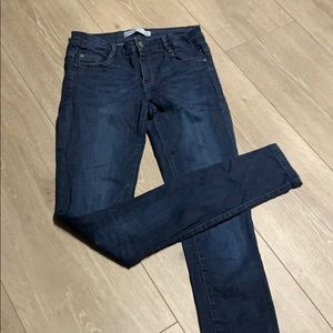 Super stretch dark cigarette jeans